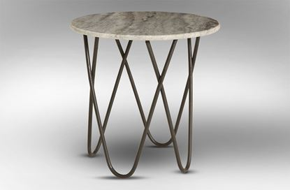 Picture of Taj Marble Side Table Black