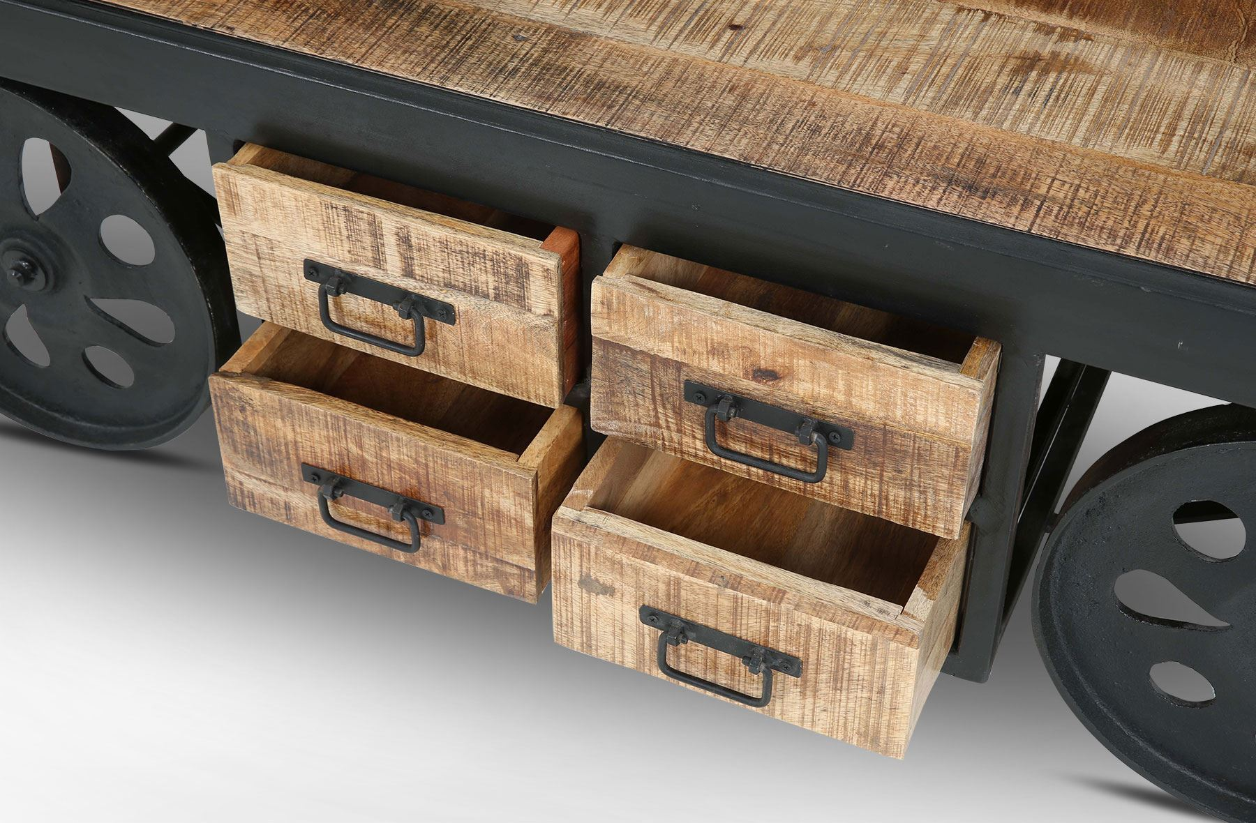 rice furniture. 8 drawer cart coffee table