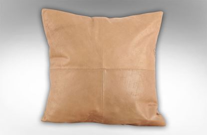Picture of 4 Patch Copper Leather Cushion