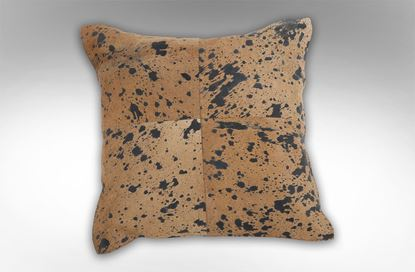 Picture of 4 Patch Dark Tan Cushion