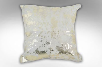Picture of 4 Patch White & Gold Cushion