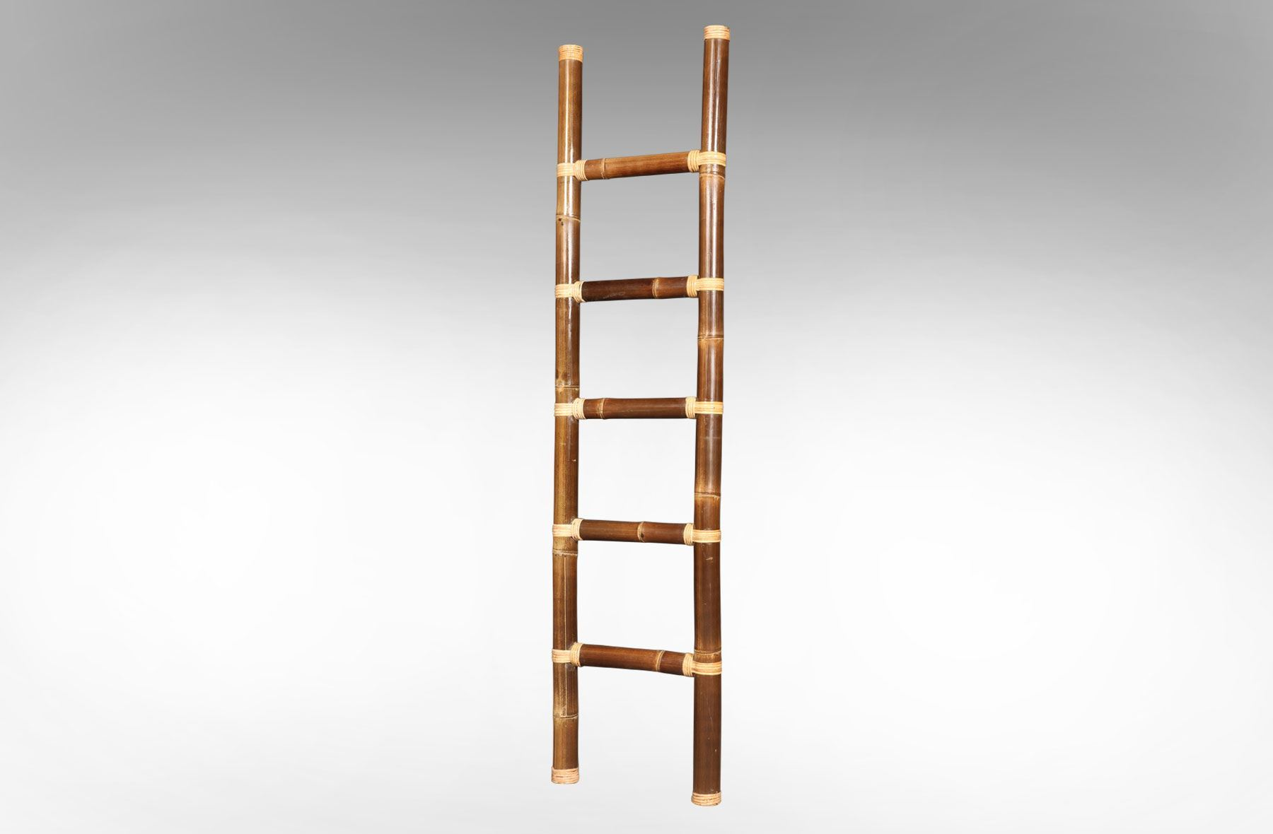 Rice Furniture Bamboo Ladder Chocolate