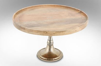Picture of Wooden Platter On Base