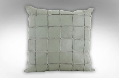 Picture of Vintage Leather Cushion Moss