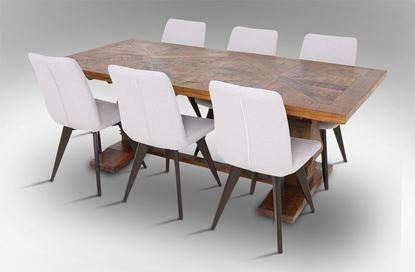 Picture of Eden 2100 Dining Table With 6 Hilton Fabric Dining Chairs