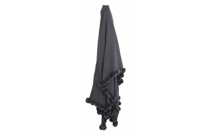 Picture of Ellis Pom Pom Throw Charcoal