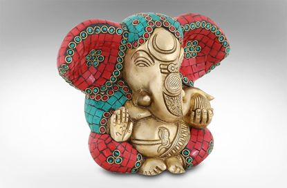 Picture of Ganesh Small Red 15cm