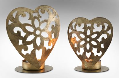 Picture of Heart Candle Holders Set 2
