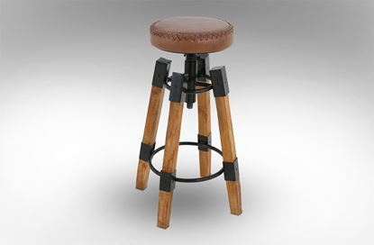 Picture of Iconic Leather Barstool