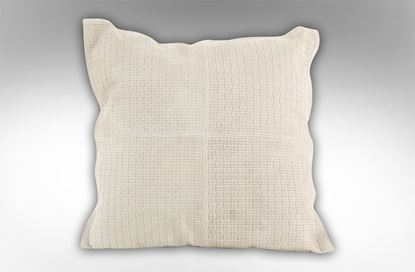 Picture of Leather Embossed Ivory cushion