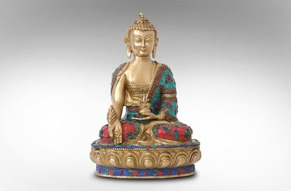 Picture of Lotus Coloured Stone Buddha