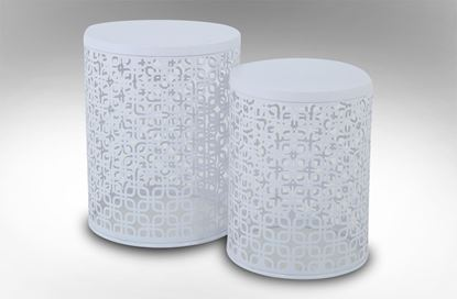 Picture of Mayan Side Table Angel White Set Of 2