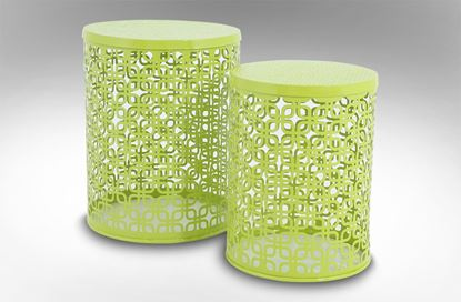 Picture of Mayan Side Table Citrus Green Set Of 2