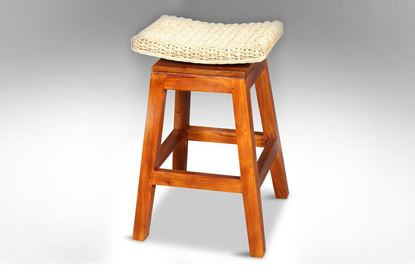 Picture of Moroccan Swivel Barstool Honey
