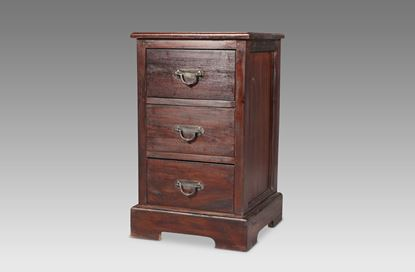Picture of New York 3 Drawer Bedside Mocha