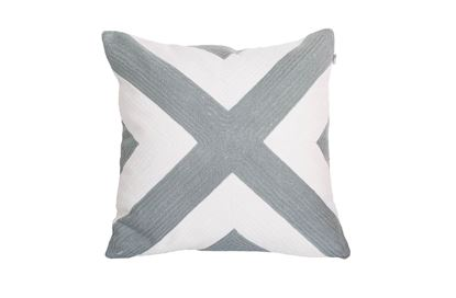Picture of Portsea Cross Cushion Grey 43x43cm