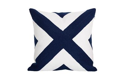 Picture of Portsea Cross Cushion Navy 43x43cm