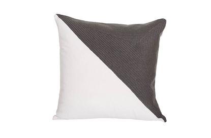 Picture of Portsea Half Cushion Charcoal 43x43cm