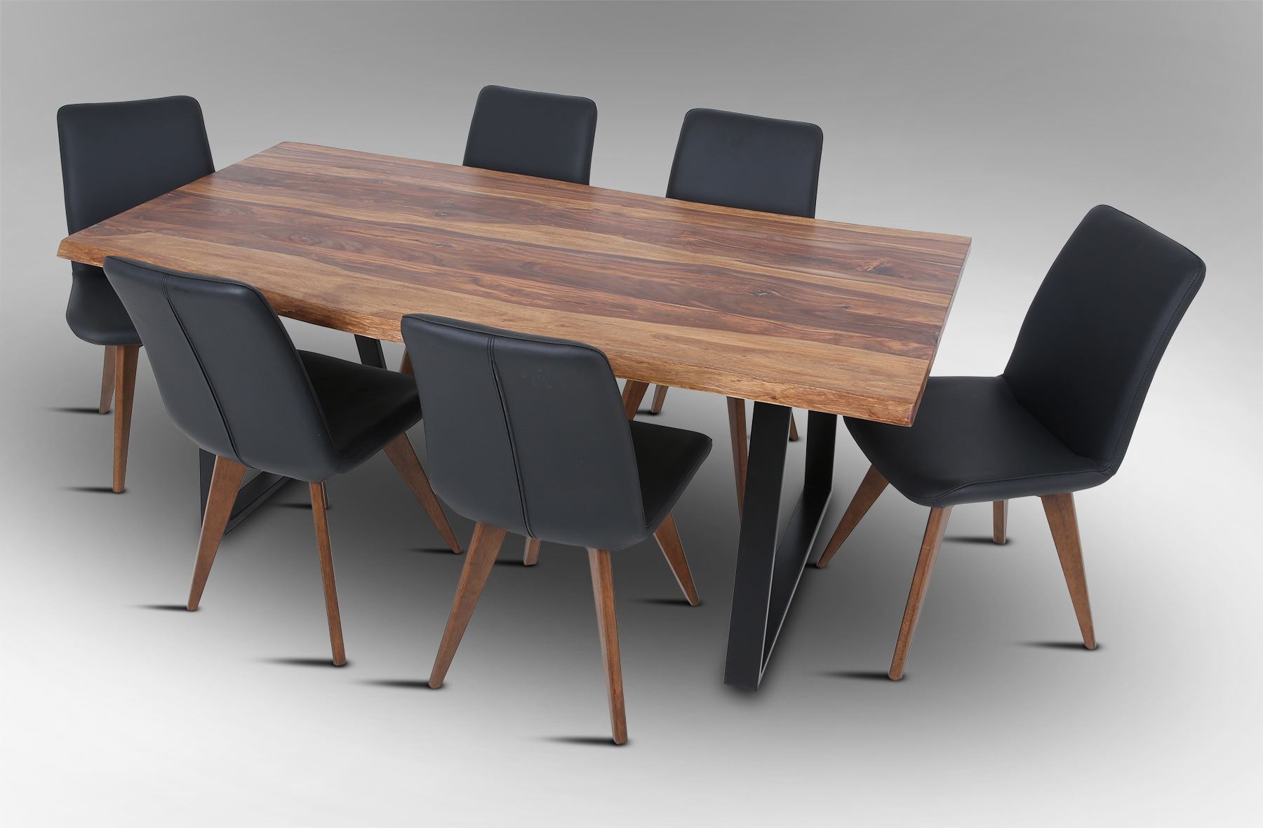 100 Dining Table With 6 Leather Dining Room Square  : 0001002rio 2000 dining table with 6 hilton leather dining chairs black from 45.77.72.155 size 1800 x 1180 jpeg 135kB