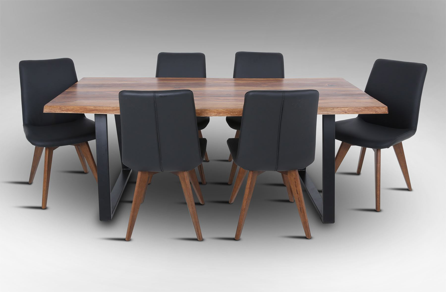 Rice Furniture Rio 2000 Dining Table with 6 Hilton Leather Dining