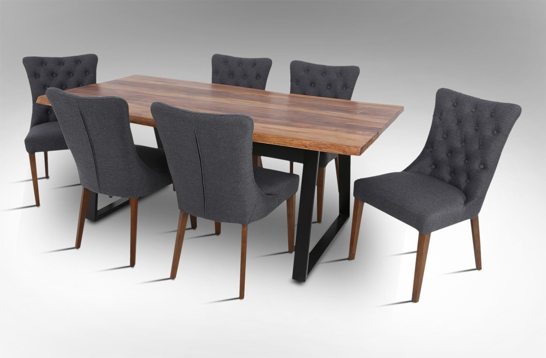 Rice Furniture Rio 2000 Dining Table With 6 Paris Chairs