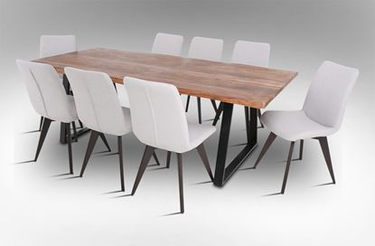 Picture of Rio 2300 Dining Table with 8 Hilton Fabric Dining Chairs
