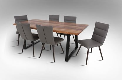 Picture of Rio 2000 Dining Table With 6 Elite Leather Dining Chairs