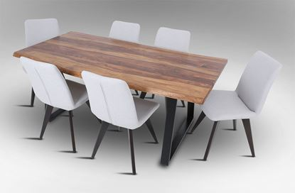 Picture of Rio 2000 Dining Table with 6 Hilton Fabric Dining Chairs
