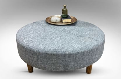 Picture of Sara Round Upholstered Coffee Table Ash