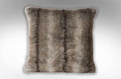 Picture of Doe Faux Fur Cushion Brown
