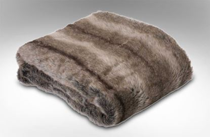Picture of Doe Faux Fur Throw Brown
