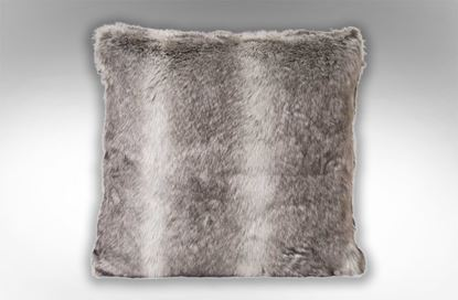 Picture of Husky Faux Fur Cushion Grey