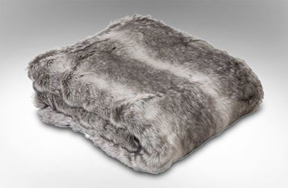 Picture of Husky Faux Fur Throw Grey