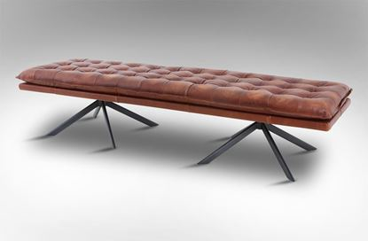 Picture of Lincoln Leather Bench - Cigar