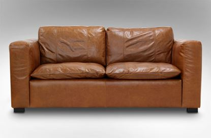 Picture of Monash 2 Seat Leather Sofa Desert