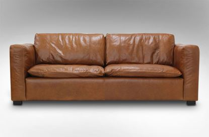Picture of Monash 3 Seat Leather Sofa Desert