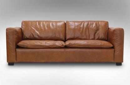 Picture of Monash 3 Seat Leather Sofa Desert