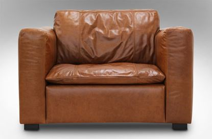 Picture of Monash Single Leather Armchair Desert