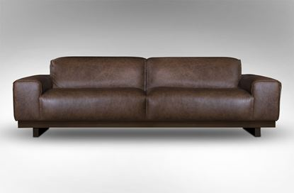 Picture of Roland 3 Seat Leather Sofa Saloon