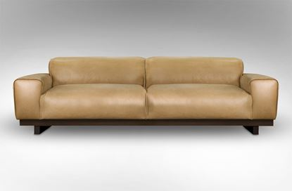 Picture of Roland 3 Seat Leather Sofa Desert