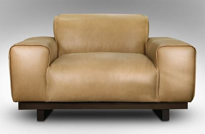 Picture of Roland Single Leather Armchair Desert