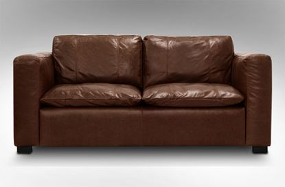 Picture of Monash 2 Seat Leather Sofa Chestnut