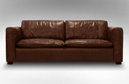 Picture of Monash 3 Seat Leather Sofa Chestnut