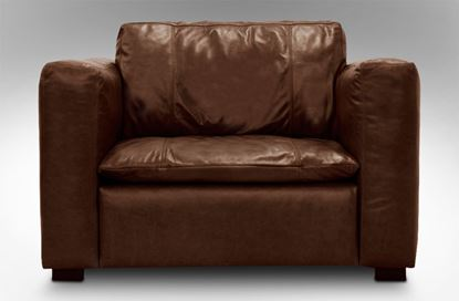 Picture of Monash Single Leather Armchair Chestnut