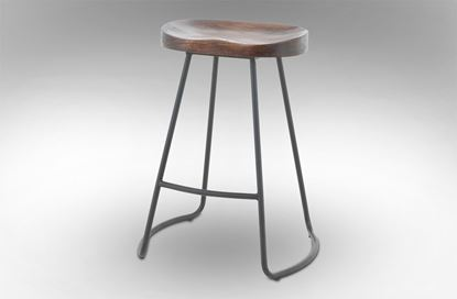 Picture of Lexus Barstool 65cm Black Frame With Mocha Seat