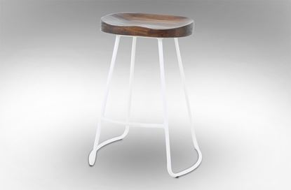 Picture of Lexus Barstool 65cm White Frame With Mocha Seat