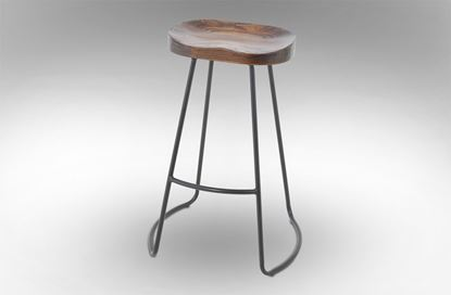 Picture of Lexus Barstool 75cm Black Frame With Mocha Seat