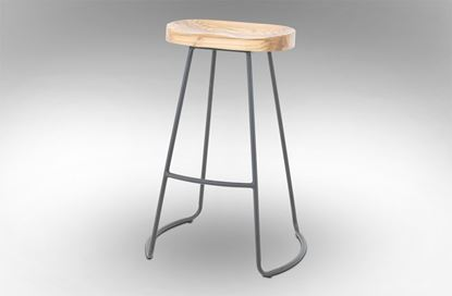 Picture of Lexus Barstool 75cm Black Frame With Natural Seat