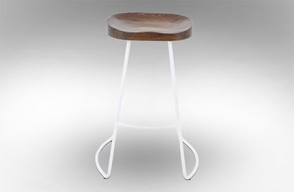 Picture of Lexus Barstool 75cm White Frame With Mocha Seat