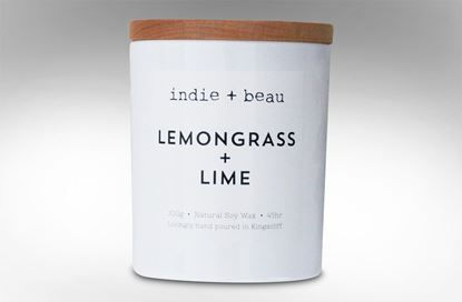 Picture of Lemongrass and Lime White Jar